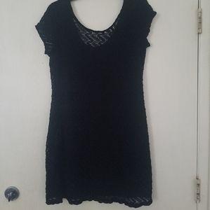 lace crochet black dress xl